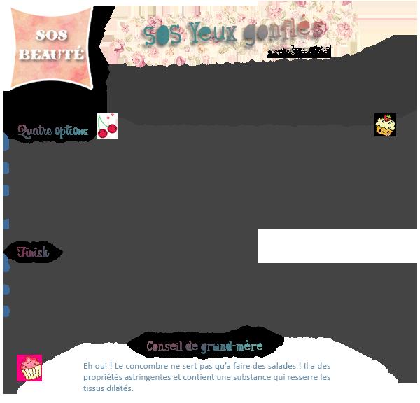 SOS BEAUTE : Yeux gonflés