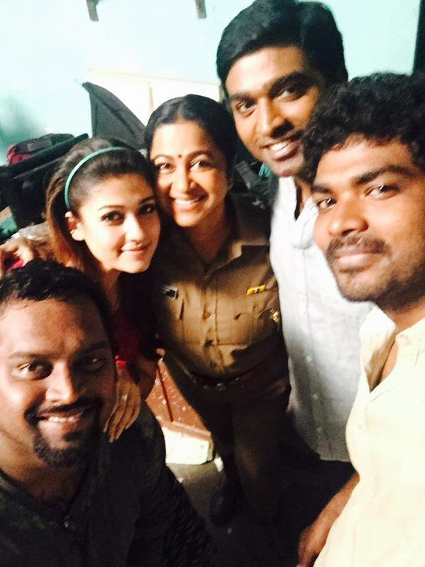 Nayan With Vijay Sedupatti At Shooting spot !! With Raadika Mam !!!