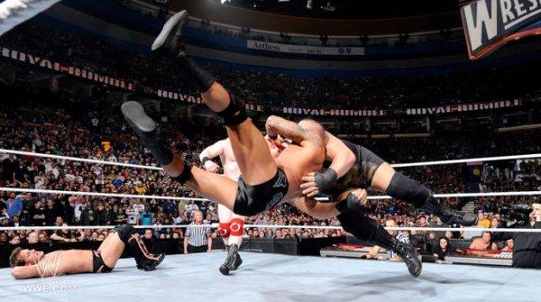 Quelque photo du Royal Rumble Match