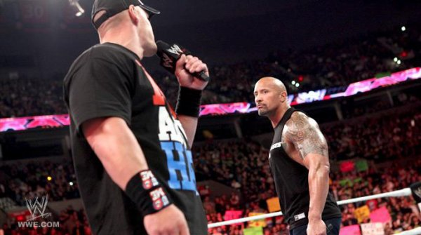 The Rock était a wwe raw hier soir !