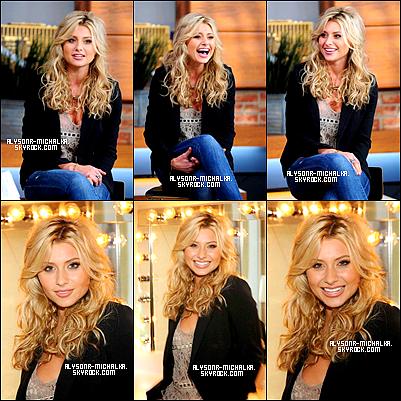 """#23.04 ~ Aly' et sa Soeur , Amanda , on etait vu au West Hollywood .#26.04 ~ Alyson etait sur << Late Night Show >> avec Jimmy Fallon. 26.04² ~ A. c'est rendu sur le plateau <<PIX 11 Morning Show>> . #27.04 ~ La Belle blonde' à etait rendre visite à """" Sirius XM Radio """".#"""