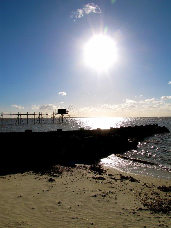 soleil sur la baie
