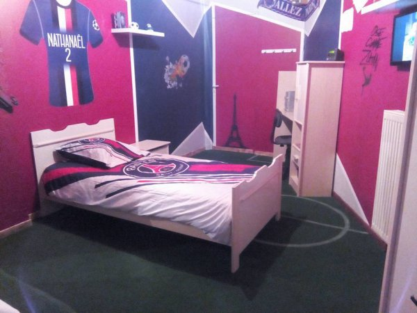 psg foot psg deco chambre paris st germain blog de jdf88. Black Bedroom Furniture Sets. Home Design Ideas