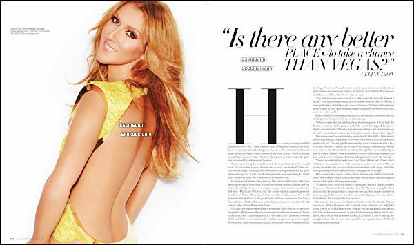 """. En septembre, Céline Dion fera la l'une du magazine américain """" Vegas """" + NOUVELLES PHOTOS : Nouveau photoshoot pour le magazine. ."""