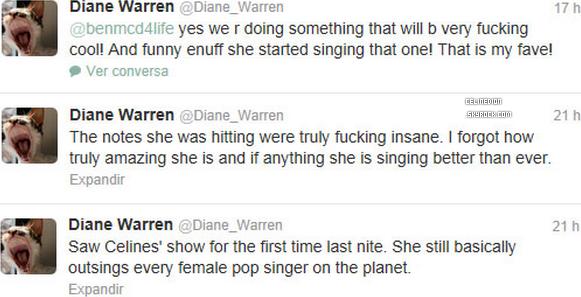 . Diane Warren a vu Céline Dion au Colosseum du Caesars Palace à Las Vegas. .