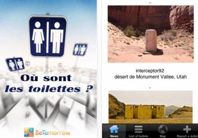 """Application """"ou sont les toilettes"""" pour Iphone"""