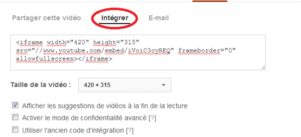 Comment mettre une video sur sa description