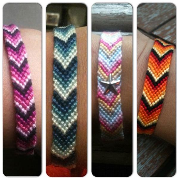 Bracelets en chevron!!