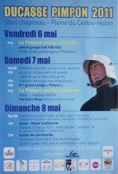 Programme ducasse Pimpon 6-7-8 mai 2011
