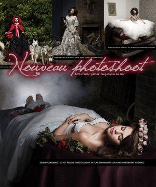 Voici le nouveau photoshoot de Selena Gomez : petit chaperon rouge, La belle aux bois dormant, cendrillon...Vous en pensez quoi ?