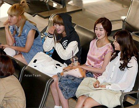 . SHINee, Secret ainsi que BEAST, Miss A et  SG Wannabe à l'aéroport pour MBC's Hallyu concert in Japan .