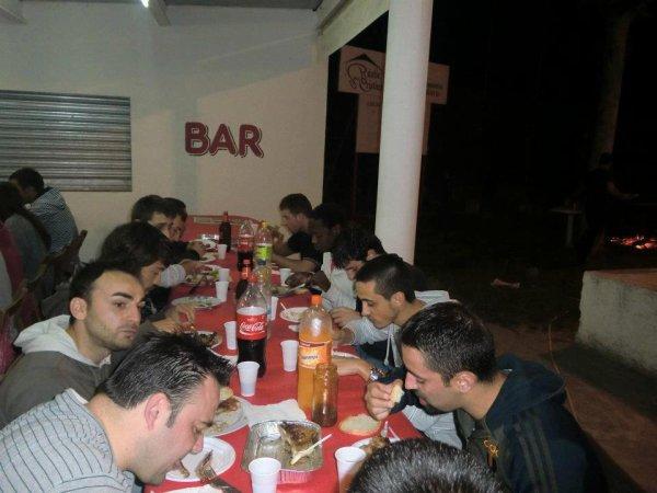 repas avec les amis