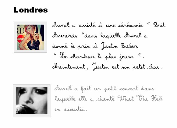 Liens : Photoshoot - Push - Concerts : Londres - GoodbyeLullaby ( article en cours) - Youtube  < Clique juste sur le mot ♥