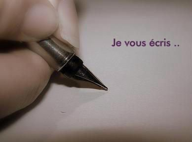 Je vous écris..♥