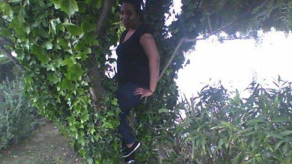moi accrouche a un arbre mdrr