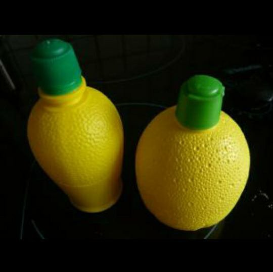 Voila le citron que je met dans l'eau.