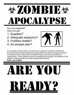 Zombie : Attaque, quelle arme ? (les inutiles)