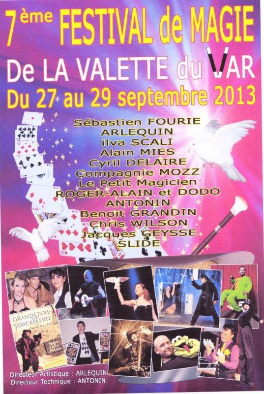 Festival de Magie de Lavalette du Var 2013