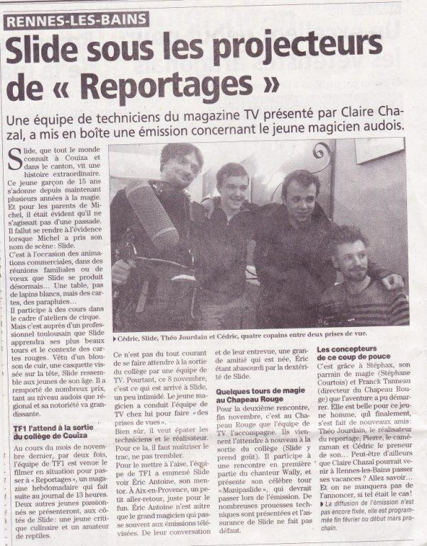 ARTICLE PARU CE JOUR SUR  L INDEPENDANT