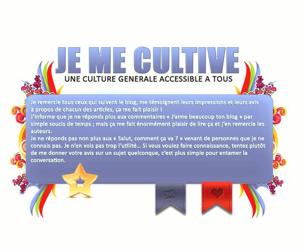 JeMeCultive, une culture générale accessible à tous