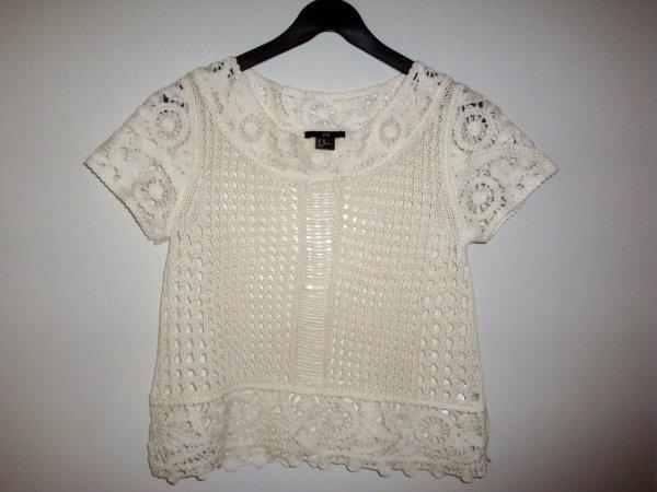 T-shirt en crochet, H&M