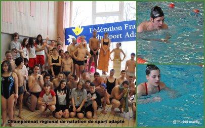 natation: championnat régional de natation de sport adapté à Dole