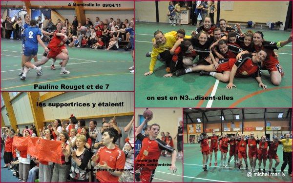 Handball F: les dernières images de la montée en Nationale 3 à Mamirolle