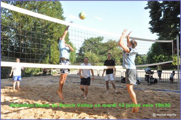 Beach Volley: FINALE ce mardi 12 juillet