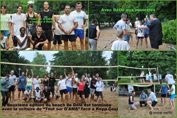 """Beach Volley de Dole: la victoire poiur """"Tout sur D'AMS"""""""