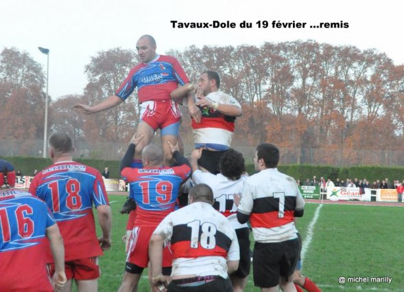 Rugby: Tavaux-Dole remis...
