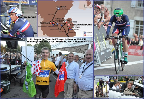 Le prologue du Tour de l'Avenir à Dole dimanche 26 août