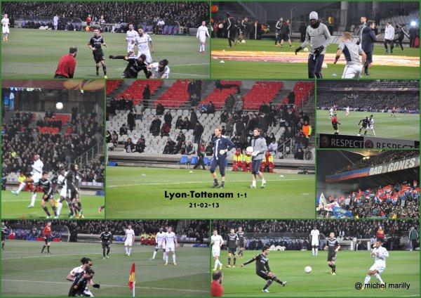 Retour sur Lyon Tottenam en photos...