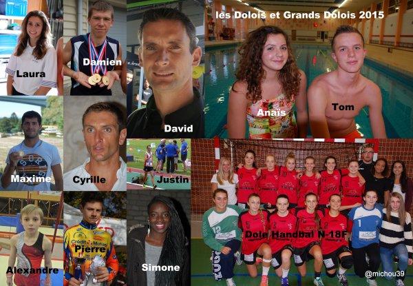 """""""Mes"""" Sportifs, Dolois et Grands Dolois de l'année 2015...."""