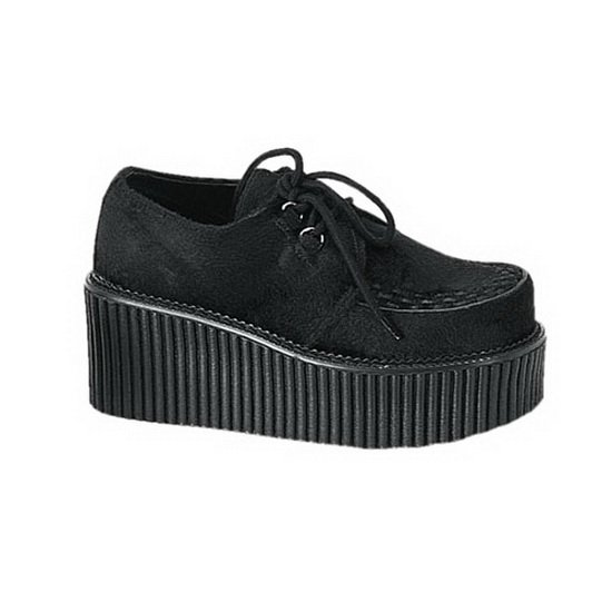 Creepers noir touché velours P.39