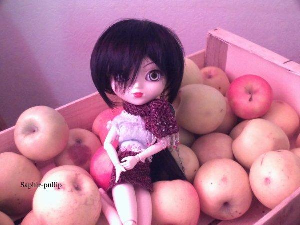 Cachou et Yuyu parmis les Pommes