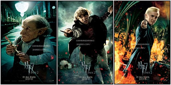 Les affiches d'Harry Potter et les reliques de la mort, partie 2. (l)