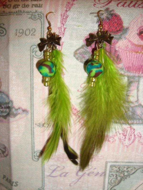 Boucles d'oreilles assortie