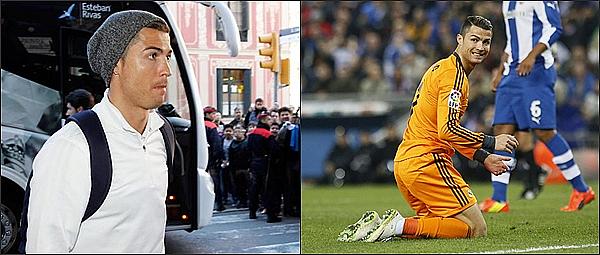 -  . 21.01.2014 - Cristiano Ronaldo a son arrivé a Barcelone puis il a disputé la rencontre face a l'Espagnol Barcelone. -  .