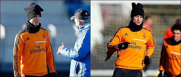 -   . 23.01.2014 - Cristiano Ronaldo a participé a l'entraînement avec le Real Madrid. -  .