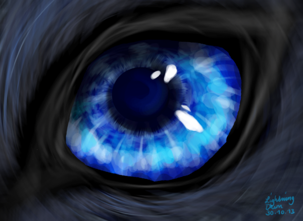 l'oeil bleu... le reflet de l'eau