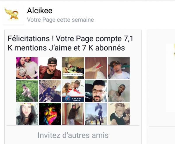 Alcikee Fans sur Facebook