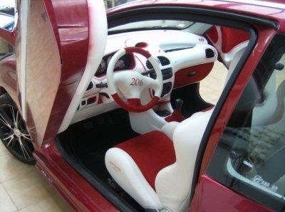 Intérieur cuir et alcantara - Peugeot 206