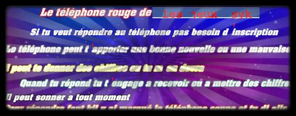 LE TELEPHONE ROUGE DANS LES JEUX SKY !!!!!!