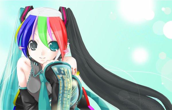 miku arc en ciel x)