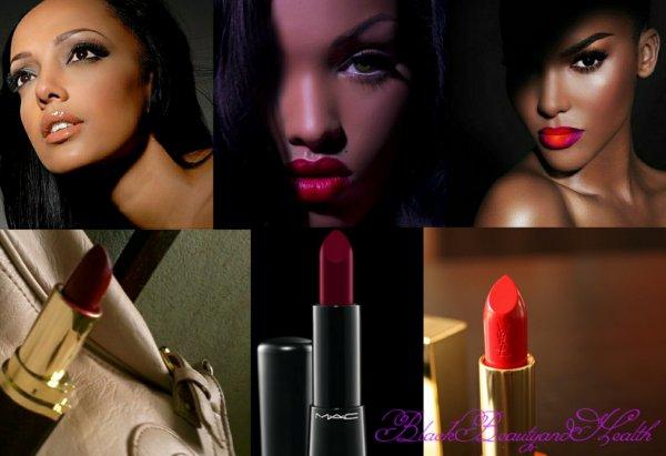 Quelle couleur de rouge à lèvre mettre quand on est noire ou métissée?