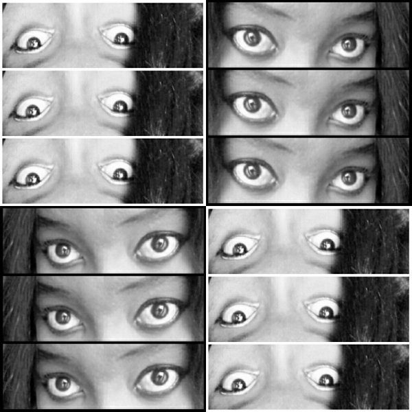 The style of B&W (no pro make up) : eyes ,big eyes...