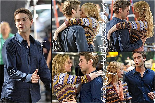 *31/08/2011 - Chace a été encore une fois apercu sur le tournage de la saison 5 de la série Gossip girl. *