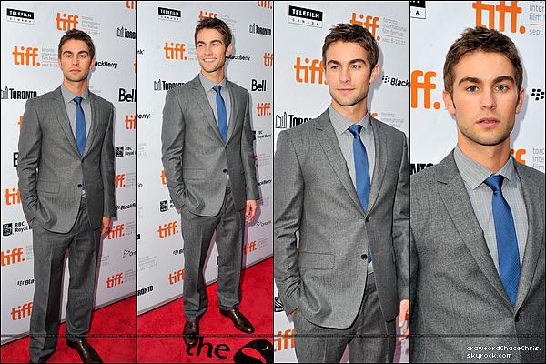 """*13/09/2011 -  Chace était à la premiere de son film """" Peace, Love & Misunderstanding """" à Toronto, le film a été présenté au  'Festival International du cinéma'.  *"""