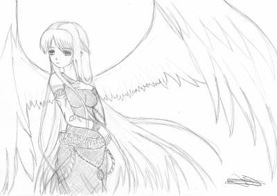 dessin manga ange