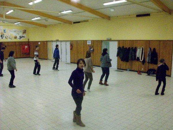 notre cours fin janvier, une partie du groupe